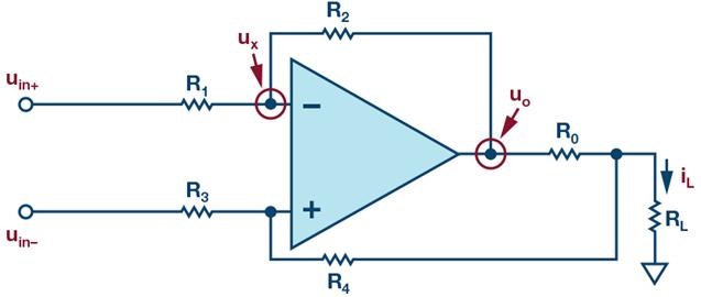 如何利用复合放大器拓扑进行改进快速建立的±500 mA电流源