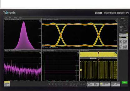 泰克最新推出增��型MSO6B,�I�仁卓�4/6/8通道10GHz示波器
