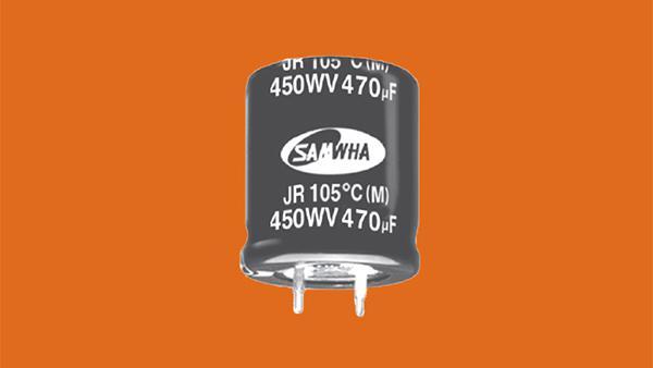 儒卓力提供了易于安装的Samwha JR系列卡入式电容器