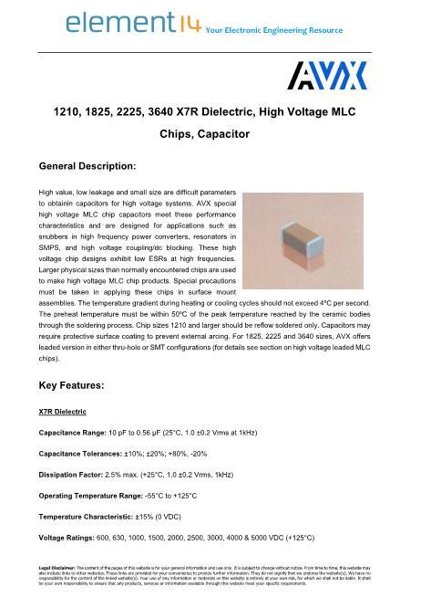 1808CC683KAT1A数据手册封面