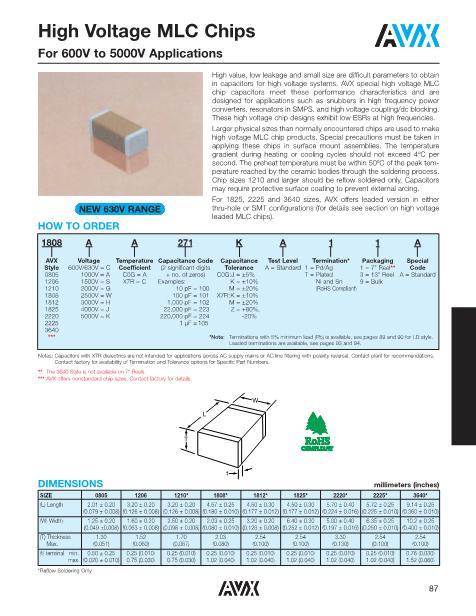 1808JA105KA13A数据手册封面