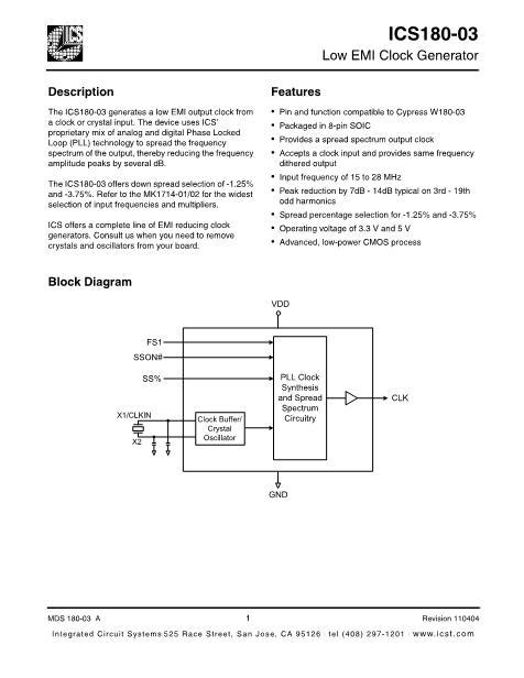 180M03LF数据手册封面