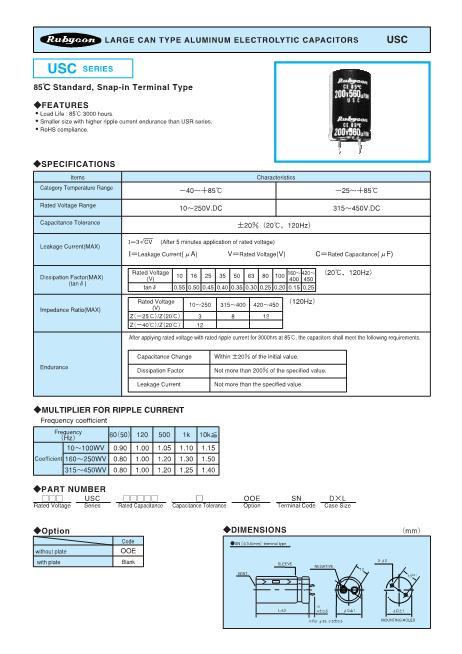 180USC560M20X40数据手册封面
