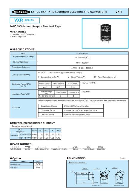 180VXR820M30X35数据手册封面