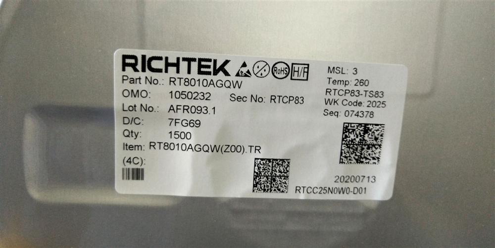 专营立�原装特价/RT8010AGQW