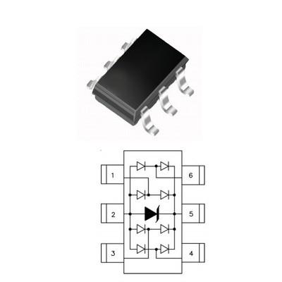 HYLSOT23-04无铅环保ESD静电二极管特价销售