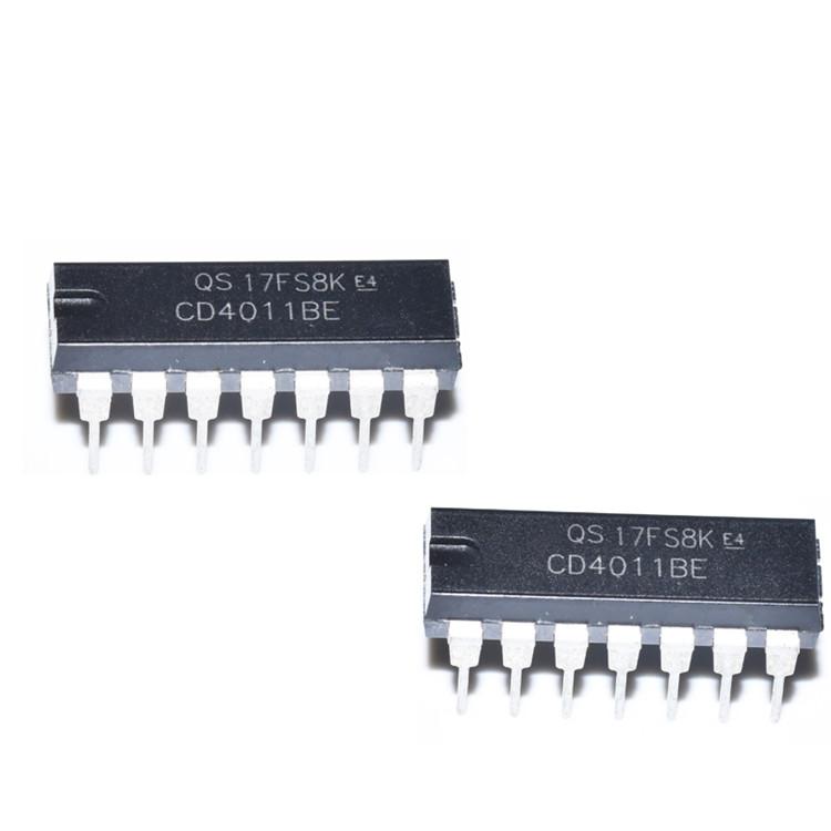 CD40系列   CD4011��芯片   DIP-14�纹��C芯片 集成�路