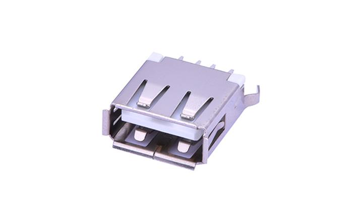 FUS206 A型4�|�c 180°插件 母座 USB�B接器