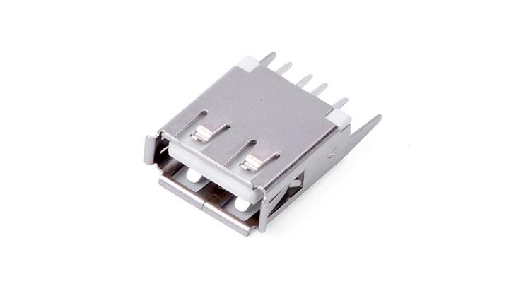 FUS220 A型4�|�c180°插件母座 USB�B接器