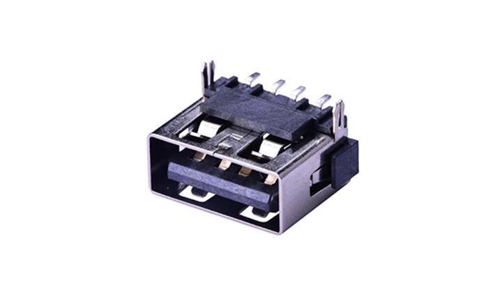 FUS2562.0 A型 90°插件 母座 USB�B接器