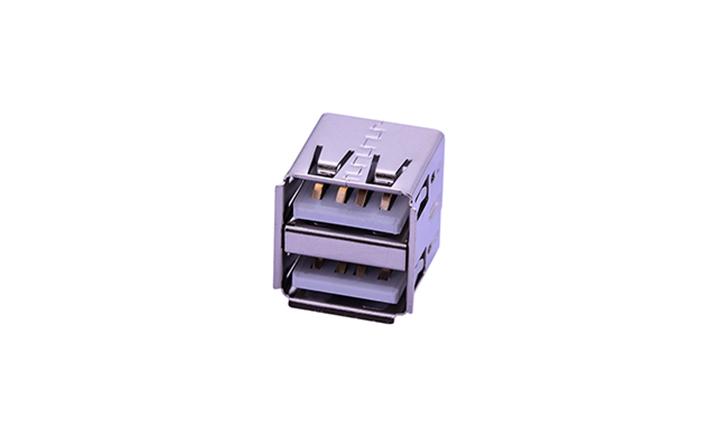 FUS265 A型 �p�� 180°插件 母座 USB�B接器