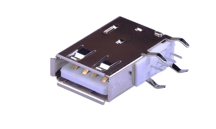 FUS272 A型 4�|�c 90°插件 母座 USB�B接器