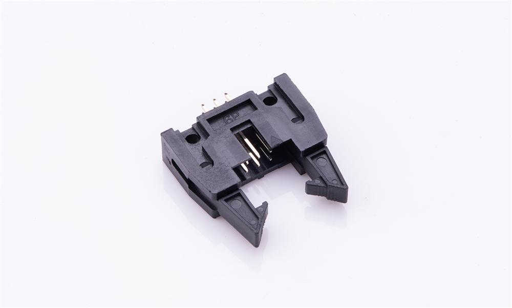 FBH25404-D06S1001K6K 2.54mm 180°插件(�L耳) 勾勾牛角