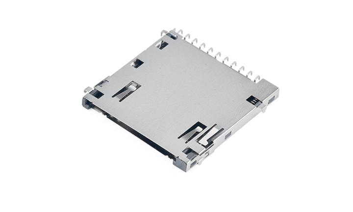 FCD132-7M SD卡�B接器 自��式(H2.8mm)(板上0.9mm)