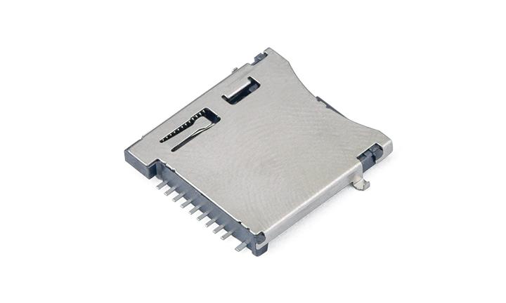 FCD425-7M  Micro SD卡�B接器 自��式(H2.3mm)(沉板1.85mm)