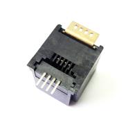 �N片式SMT rj11 JACK插座 4P4C