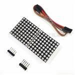 MAX7219点阵模块 2点阵二合一显示屏模块单片机控制驱动LED模块