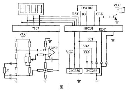 基于7107半双积分式模/数转换和单片机实现记录式温度表设计
