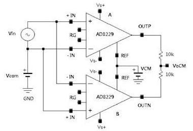 差分放大器的等效高温解决方案