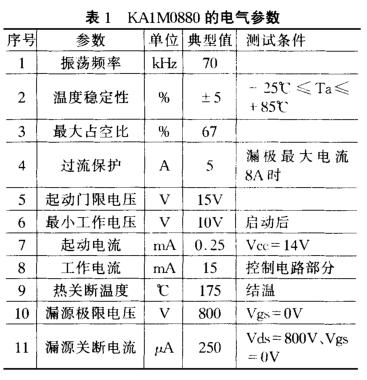 采用KA1M0880和CW4960实现多路AC/DC输出电源的方案设计