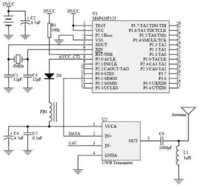 基于单片机和TH-UWB02芯片实现超宽带窄脉冲发射机电路的设计