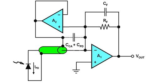 脱离跨阻抗设计问题的自举二极管电容和线缆电容