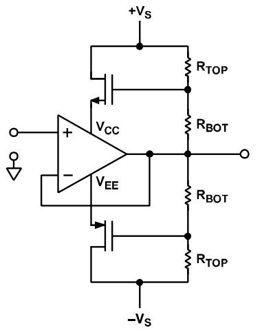 常规运算放大器的自举电路设计
