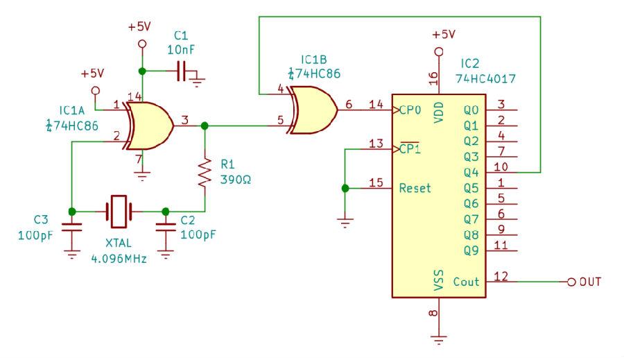 分频器产生的455kHz方波信号