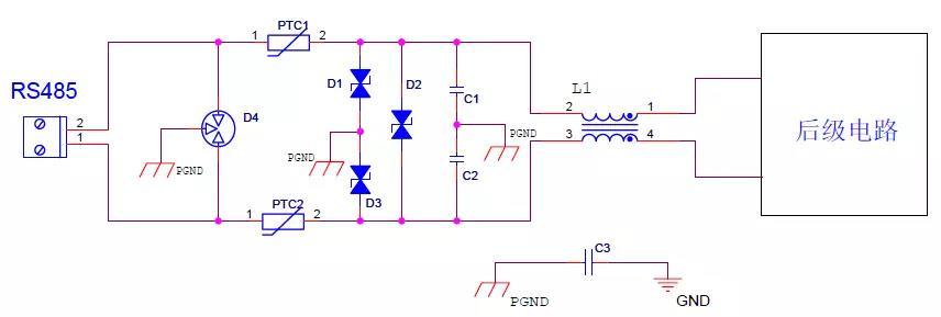 RS485接口6KV防雷电路设计方案