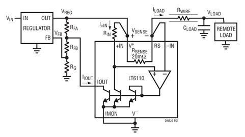 如何做到用铜线控制远端负载的电压